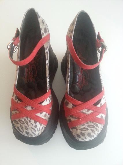 Sapato Feminino Oncinha Plataforma Pulo Do Gato 36