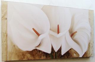 Quadro Abstrato Floral Sala