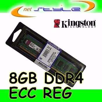 Kingston 8gb Ddr4 Ecc Reg 2400mhz 288pin Srx8 Kth-pl424 8g