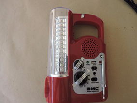 Lanterna Radio Fm/am 60led 6v 1600mah Usb Frete Grátis