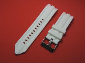 Pulseira Nautica De Silicone 24mm Branca