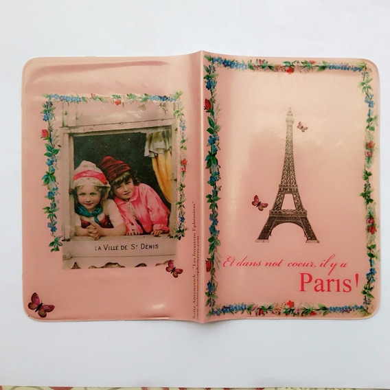 Capa Passaporte França Paris Torre Eiffel Borboleta Vintage@