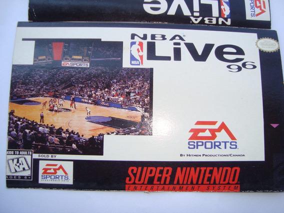 Label ( Rótulo ) Super Nintendo - Nba Live 96