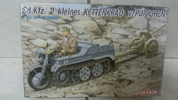 Sd.kfz. 2 Kleines Kettenkrad With Püppchen Moto Tanque 1:35