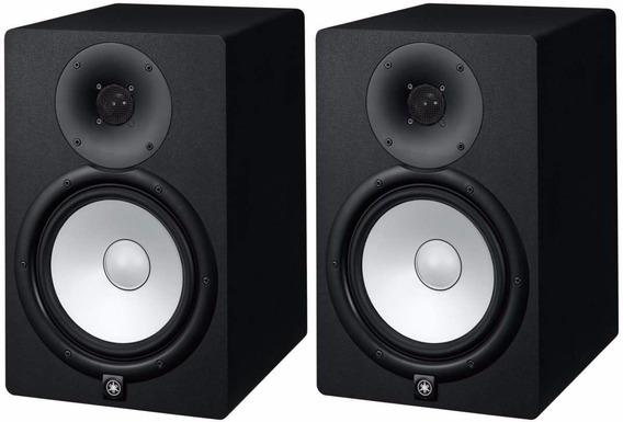 Par Monitor De Estúdio Yamaha Hs7 Hs 7 Preto Bi-amplificado