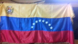 Bandera De Venezuela Con Escudo
