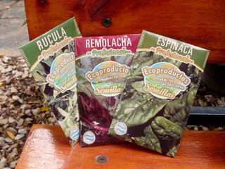 Semillas Huerta Organica Pack X2u Remolacha Rucula Tomate