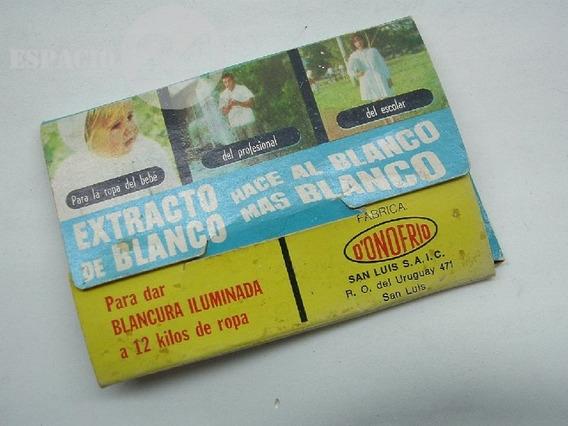 Antiguo Extracto De Blanco.sobre Abierto En Pack Original