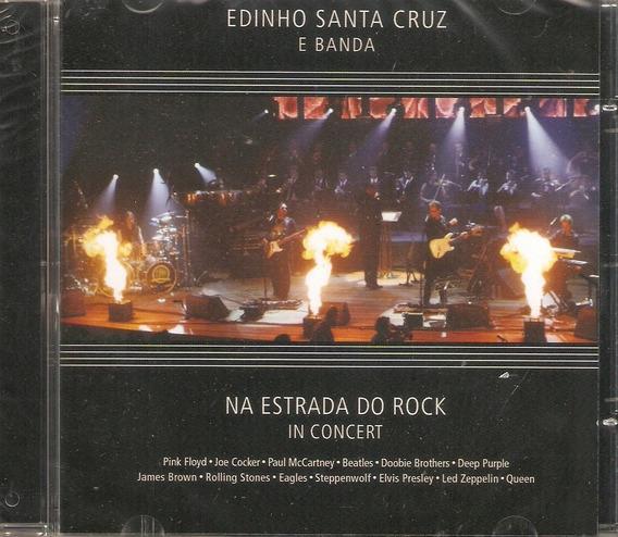 Cd Edinho Santa Cruz E Banda - Na Estrada Do Rock In Concert