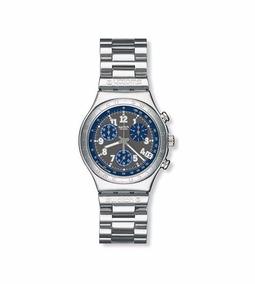 Relógio Swatch Secret Agent Grey Ycs404g Importado Leiam