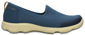 Zapato Crocs Dama Busy Day Stretch Skimmer Azul