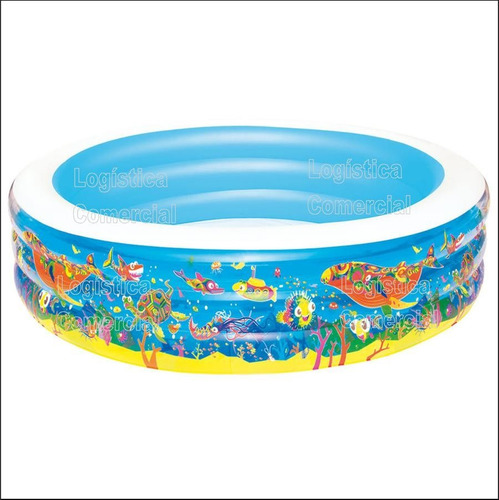 Piscina Familiar Inflable 3 Anillos 229 X  56cm 51123