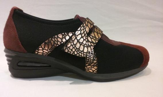 Zapato Neoprene Con Cuero Art A-102. Marca Alen