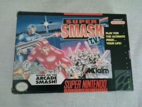 Cartucho Jogo Super Nintendo Super Smash Tv Super Nintendo