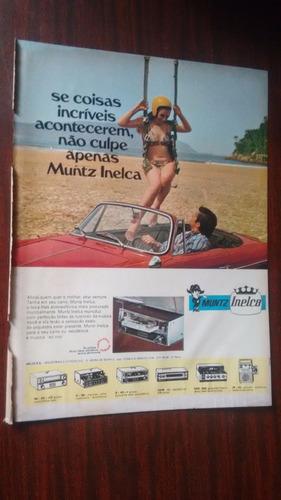 Propaganda Antiga - Muntz Inelca Rádio Carro/ Servencin