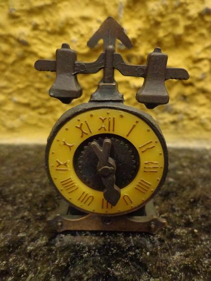 Antiga Miniatura Relógio Apontador Em Ferro - R 3268