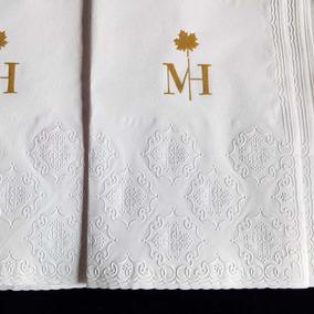 150und Toalhas Lavabo Papel Personalizadas Iniciais Logo