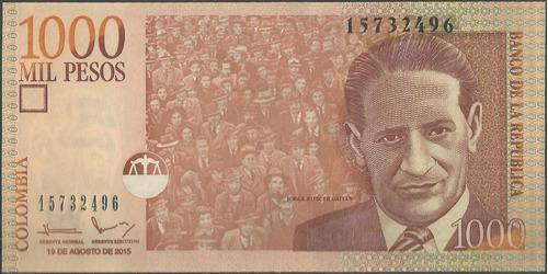 Colombia 1000 Pesos 19 Ago 2015 439r-18