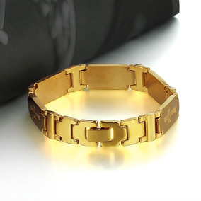 Pulseira Masculina Ouro Plated 18k Solido