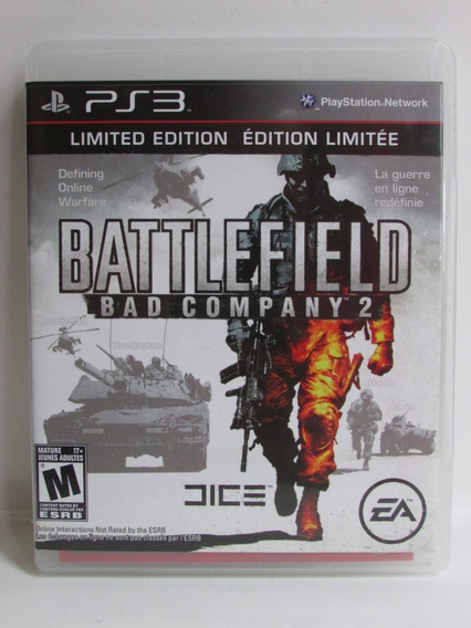 Battlefield Bad Company 2 Limited Edition - Play 3 Completo