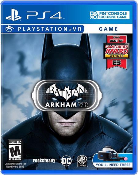 Batman: Arkham Vr - Ps4 Vr - Midia Fisica