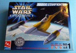 Star Wars 1999 Naboo Nave 1:48 Modelo Ya Esta Armada D Metal