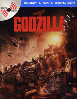 Godzilla 2014 Steelbook Pelicula Blu-ray + Dvd No Sonido
