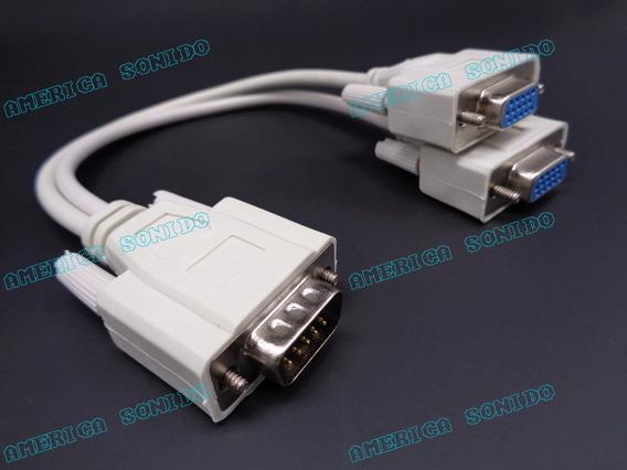 Cable Splitter Vga 1 Macho 2 Hambra
