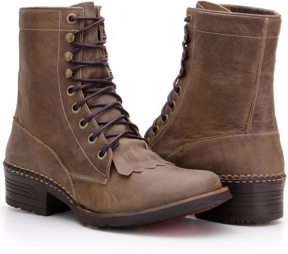Coturno Masculino Cano Alto Couro Legitimo - Capelli Boots