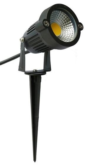 Kit 7 Espeto Led Luminária Holofote Para Jardim 5w