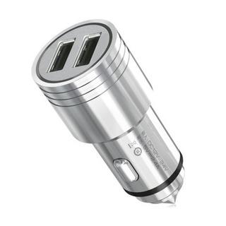 Carregador Veicular Aço Inoxidável Ultra Resiste Usb 5v 2.4a