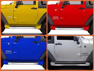 Estribo Lateral Jeep Wrangler 2p Preto Fosco