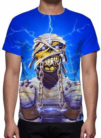 Camisa, Camiseta Iron Maiden Lightning Energy