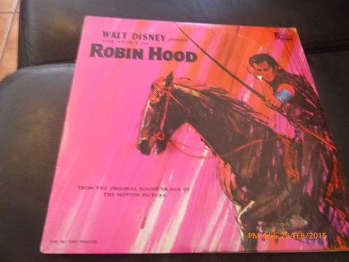 Vinilo Lp  De Robin Hood -- Walt Disney (u1035