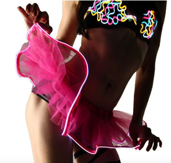 Mini Falda Led Baile Tutu Niña