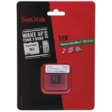 Cartão Memory Stick Micro M2 1gb-sandisk M2-sdmsm-2024-s11m
