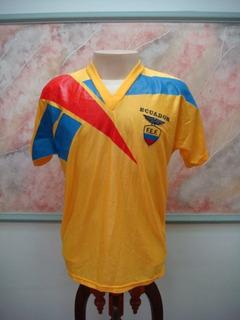 Camisa Futebol Equador Seleção Cedeno Jogo Antiga 348