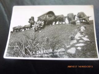 Antigua Foto Postal La Carreta Montevideo Uruguay (55f2