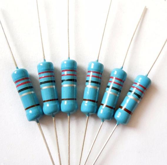 4 Pç Resistor 2,2 Ohms 3w Para Ligar Led 10w Em 12v