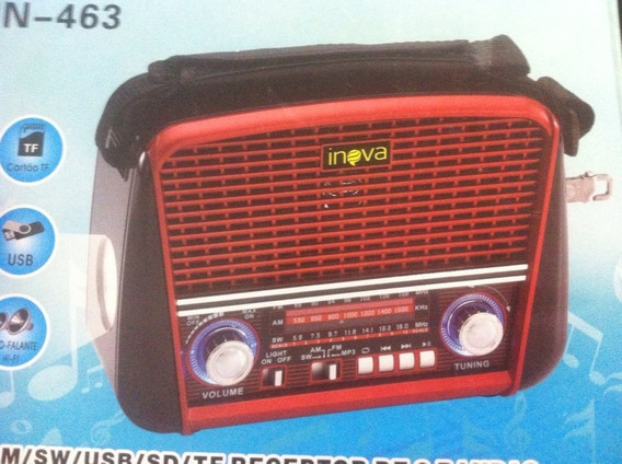 Rádio Retrô Am / Fm Inova In-463 C/ Entradas Usb Iyz