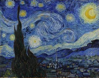 Noite Estrelada Foto Obra Van Gogh Poster Grande 40cmx50cm