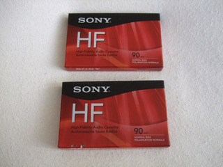 Audio Cassette Sony Hf 90 Minutos Normal Bias