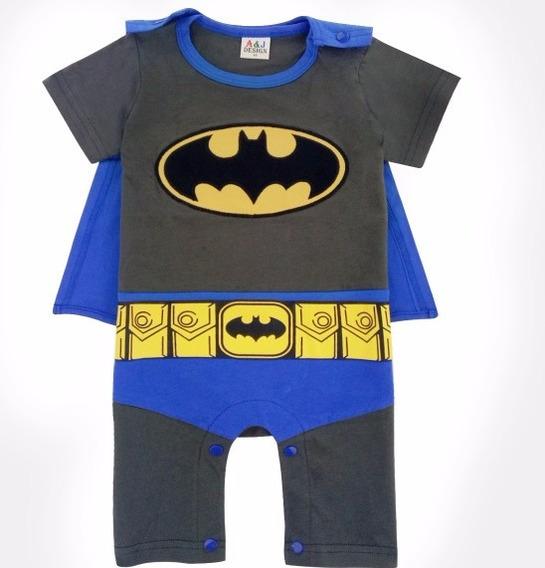 Body Batman Com Capa. Bebê Fantasia Batman!