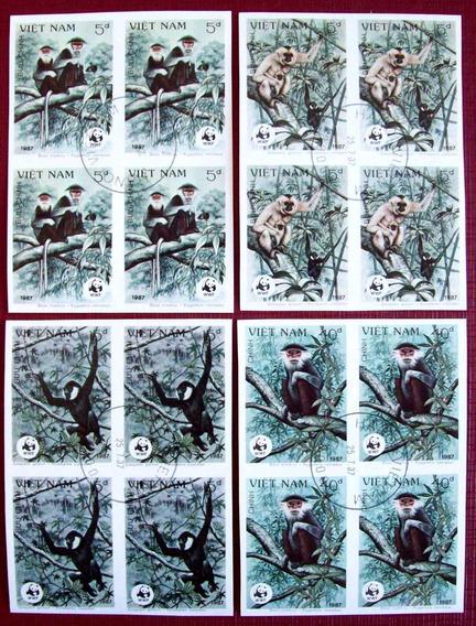Vietnam, Monos Sc. 1761-64 Cuadros S Dentar 87 Usados L6392