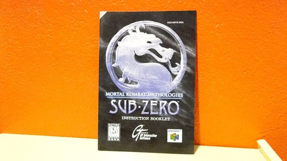 Manual Original- Mortal Kombat Mythologies- Sub Zero- N64