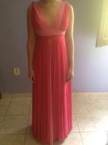 Vestido Longo Rosa Formatura- Manequim 36