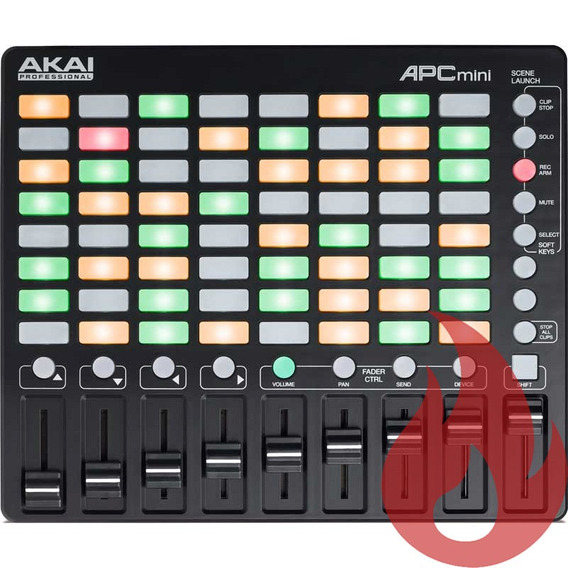Akai Apc Mini Controladora Dj Usb Ableton Live 64 Pads Loja