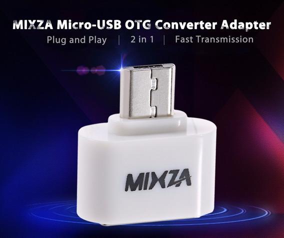 Adaptador Usb 3.1 - C Macho Para Micro V8 Femea Preto/branco