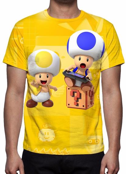 Camisa, Camiseta Game Nintendo Super Mario Maker 2015 - Toad