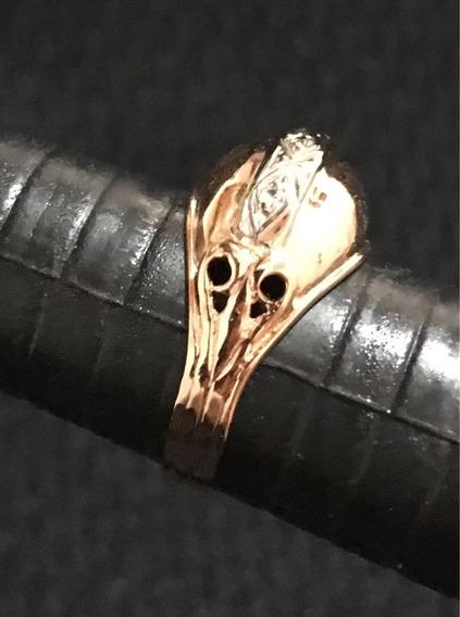 Anel Ouro 18k Antigo Com Brilhantes 4 Grs